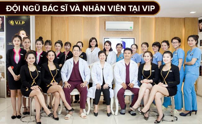 Đội ngũ bác sĩ nâng mũi tại VIP