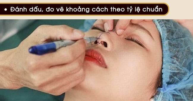 đánh dấu đo vẽ gọt cánh mũi