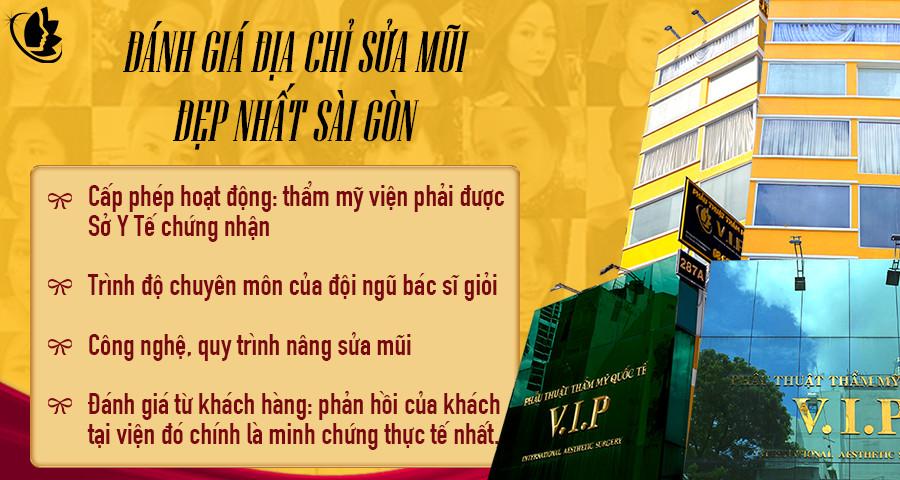 đánh giá địa chỉ sửa mũi đẹp nhất Sài Gòn