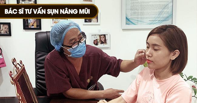 bác sĩ tư vấn nâng mũi sụn mỹ và sụn tự thân