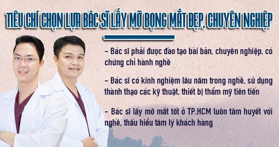tiêu chí bác sĩ lấy mỡ mắt tốt ở TPHCM