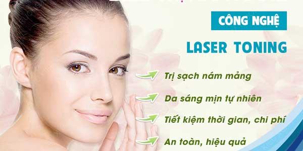 Chi phí điều trị nám bằng Laser Toning giá bao nhiêu?