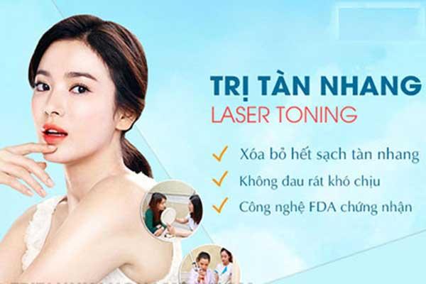 Chi phí trị tàn nhang bằng Laser Toning bao nhiêu tiền?