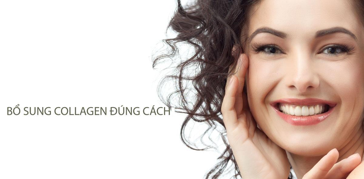 trẻ hóa da bằng collagen