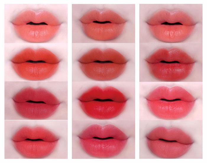 bảng màu môi mới nhất hiện nay
