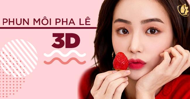 phun môi pha lê 3d
