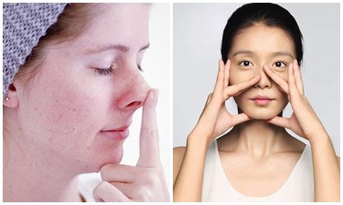 Nâng cao sống mũi bằng cách massage